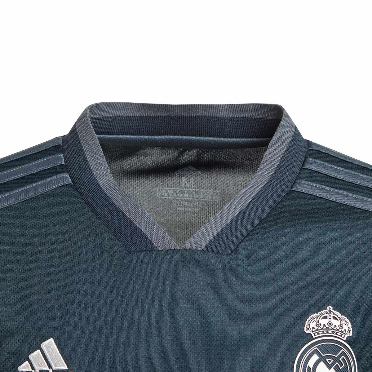610e4959a6b3 Jersey adidas Kids Real Madrid LS 2018-2019 Away Tech onix-Bold onix-White  - Tienda de fútbol Fútbol Emotion