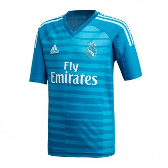 Camiseta  adidas Real Madrid Portero Segunda Equipación 2018-2019 Niño Bold aqua-Unity blue