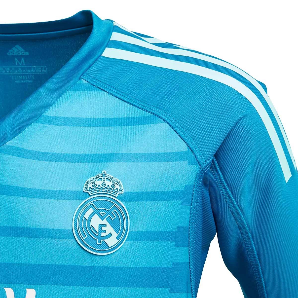 5e66ba34c1c Camiseta adidas Real Madrid Portero Segunda Equipación 2018-2019 Niño Bold  aqua-Unity blue - Tienda de fútbol Fútbol Emotion