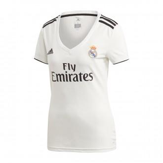 Camiseta  adidas Real Madrid Primera Equipación 2018-2019 Mujer White-black