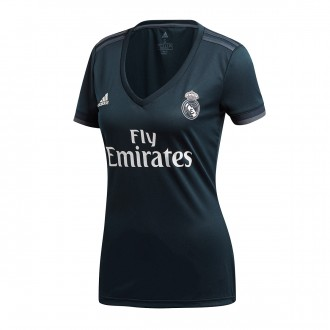 Camisola  adidas Real Madrid Equipamento Secundário 2018-2019 Mulher Tech onix-Bold onix-White
