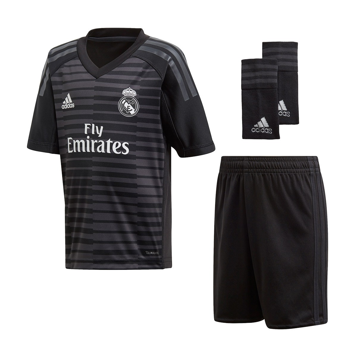 reputable site 4f920 5dccb Kit adidas Kids Goalkeeper Real Madrid 2018-2019 Home Black ...