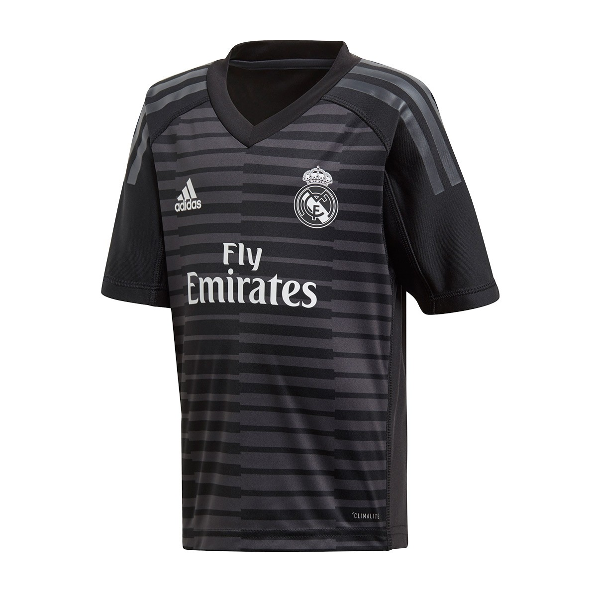 614c01a2647 Kit adidas Kids Goalkeeper Real Madrid 2018-2019 Home Black-Carbon -  Football store Fútbol Emotion
