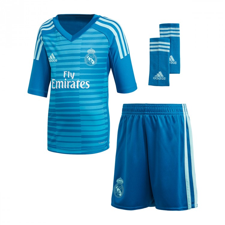 Kit adidas Kids Goalkeeper Real Madrid 2018-2019 Away Bold aqua ... 57072956b
