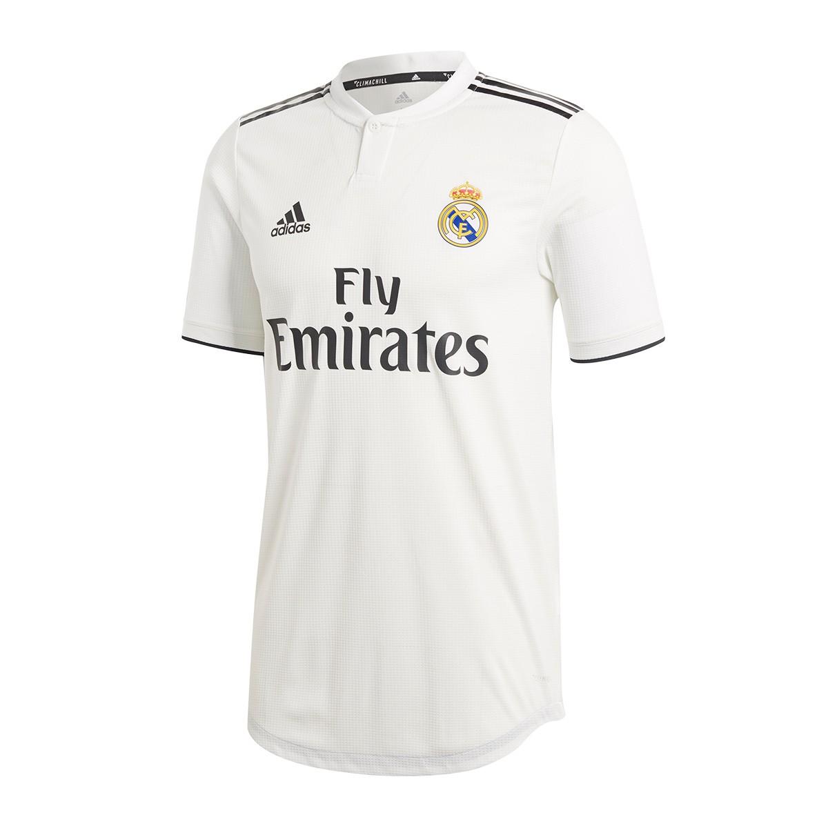 87a2157c799d3 Camiseta adidas Real Madrid Primera Equipación Authentic 2018-2019  White-black - Tienda de fútbol Fútbol Emotion