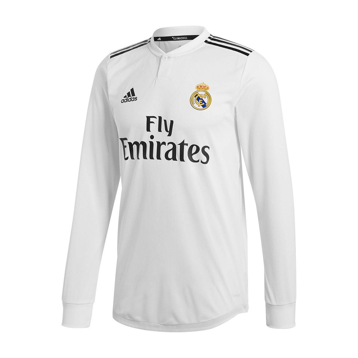 Playera adidas Real Madrid Primera Equipación AU L 2018-2019 White ... e1d21428fe66c