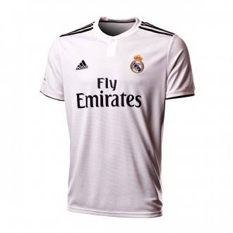 Maillot  adidas Real Madrid Domicile LFP 2018-2019 White-black