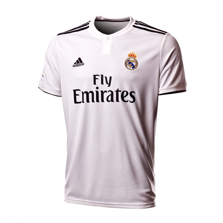 Jersey adidas Real Madrid LFP 2018-2019 Home White-black - Football ... aa52b77d41a00