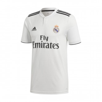 Camiseta  adidas Real Madrid Primera Equipación 2018-2019 White-black