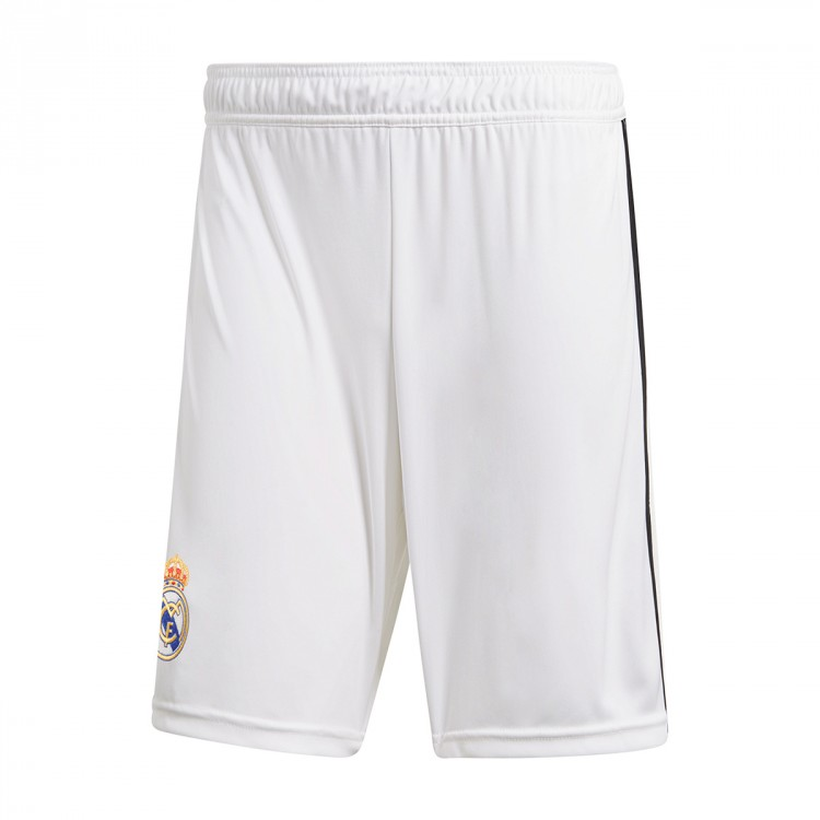 Pantalón corto adidas Real Madrid Primera Equipación 2018-2019 White ... 51701ee426f27