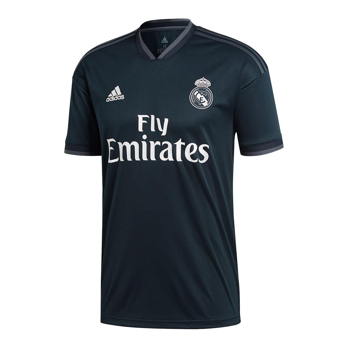 abfd7f7ea32 Jersey adidas Real Madrid 2018-2019 Away Tech onix-Bold onix-White ...