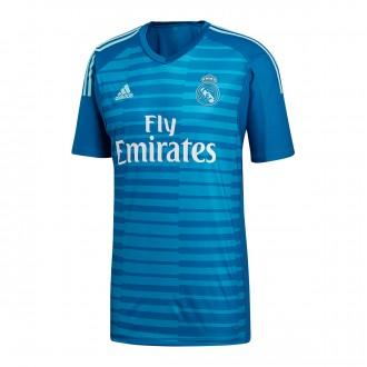Camiseta  adidas Real Madrid Portero Segunda Equipación 2018-2019 Bold aqua-Unity blue