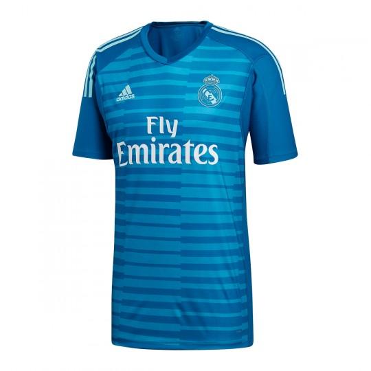db7ebaf38e0 Jersey adidas Goalkeeper Real Madrid 2018-2019 Away Bold aqua-Unity blue -  Tienda de fútbol Fútbol Emotion