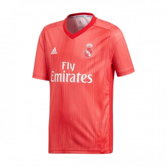 Jersey  adidas Kids Real Madrid 2018-2019 Third Real coral-Vivid red