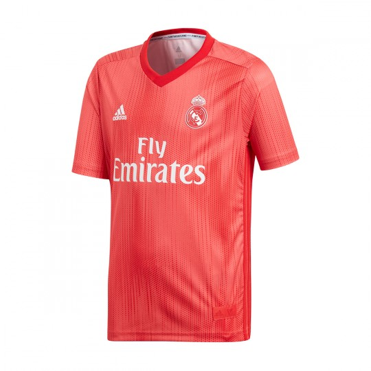 4b975027534b8 Jersey adidas Kids Real Madrid 2018-2019 Third Real coral-Vivid red -  Football store Fútbol Emotion