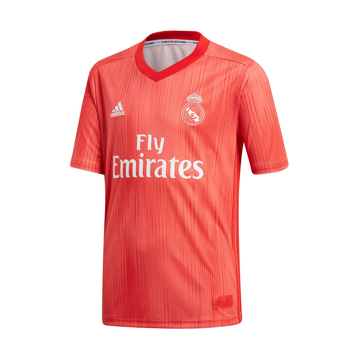 7855688b540 Kit adidas Kids Real Madrid 2018-2019 Third Real coral-Vivid red - Football  store Fútbol Emotion