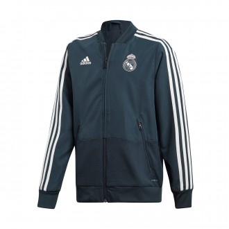 Chaqueta  adidas Real Madrid Prematch 2018-2019 Niño Tech onix-Black-White