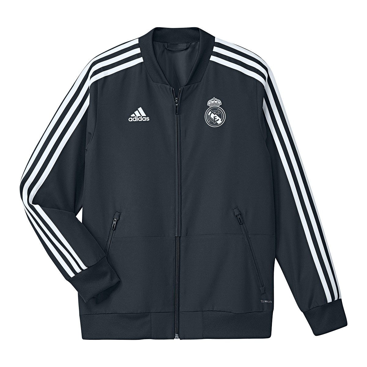 Jacket adidas Kids Real Madrid Prematch 2018-2019 Tech onix-Black ... 2b5d5b6bde280