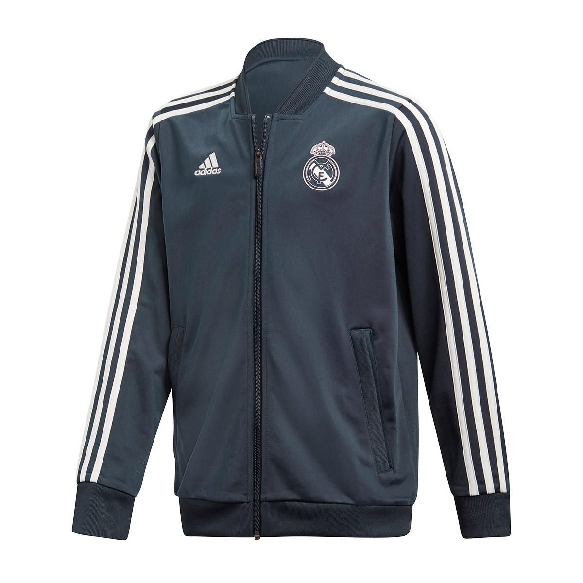 2a6dd33ad1c0c Veste adidas Real Madrid Présentation 2018-2019 enfant Tech onix-White -  Boutique de football Fútbol Emotion