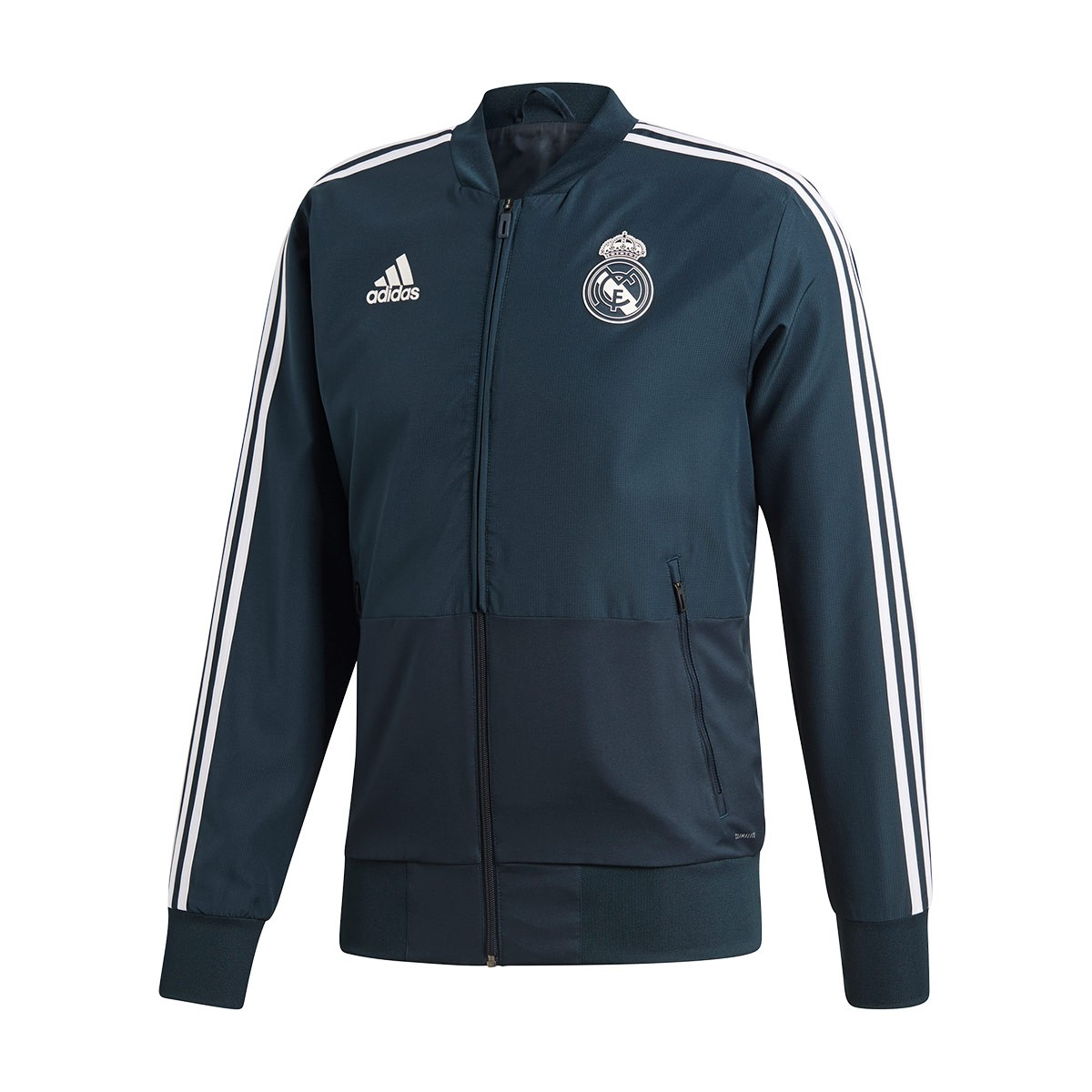 44bb59af6 adidas Real Madrid Prematch 2018-2019 Jacket. Tech onix-Black-White ...