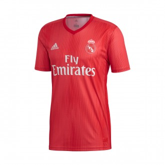 Camiseta  adidas Real Madrid Tercera Equipación 2018-2019 Real coral-Vivid red