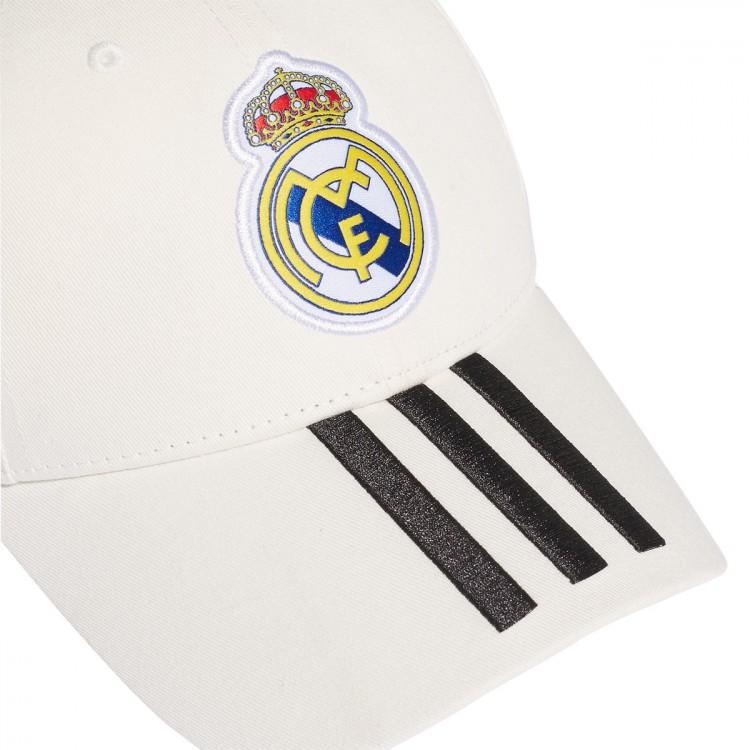 Gorra adidas Real Madrid 3S 2018-2019 White-Black - Leaked soccer d79e8dc9806