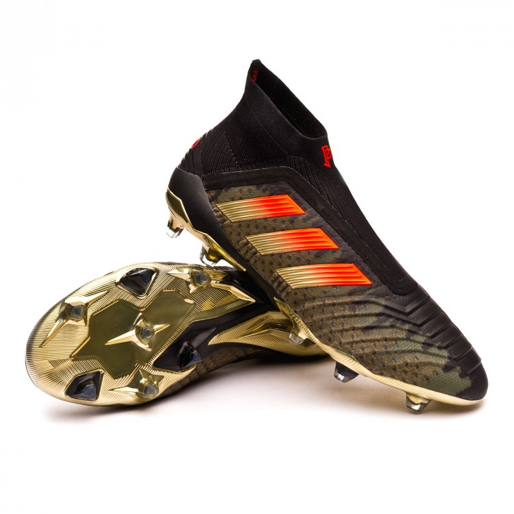 7e3e4801b Football Boots adidas Predator 18+ FG Pogba Black-Olive - Football ...