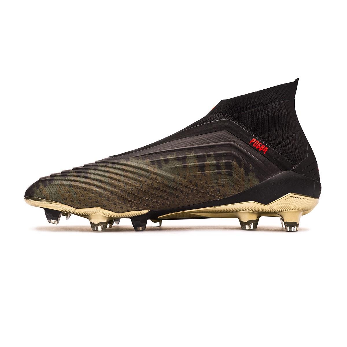 Boot adidas Predator 18+ FG Pogba Black-Olive - Leaked soccer c6809705d81fe