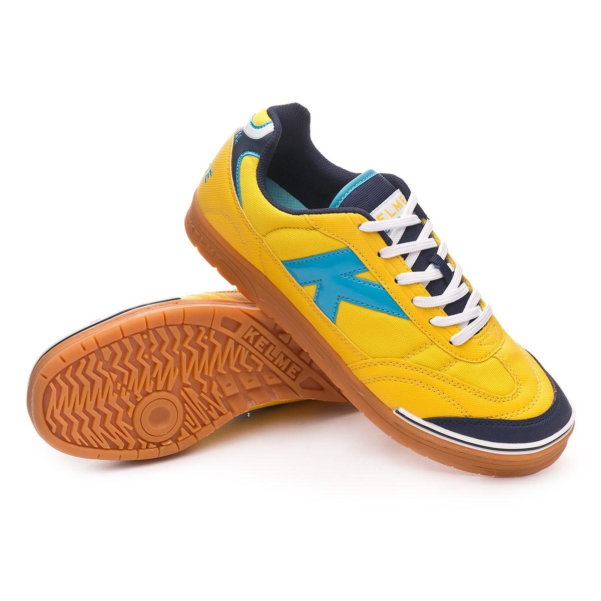 de42d37f55d Futsal Boot Kelme Trueno Sala Yellow-Turquoise - Football store Fútbol  Emotion
