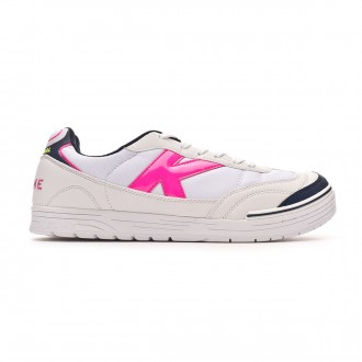 Chaussure de futsal Kelme Trueno Sala Blanc-Fuchsia