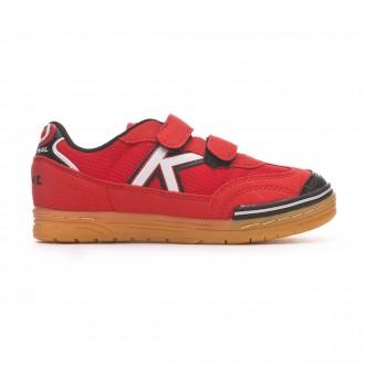Futsal Boot  Kelme Kids Trueno Sala Velcro  Red