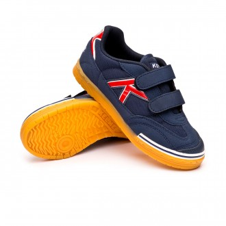Zapatilla  Kelme Trueno Sala Velcro Niño Azul-Rojo