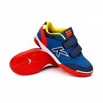 Futsal Boot  Kelme Kids Precision Velcro  Royal-Red