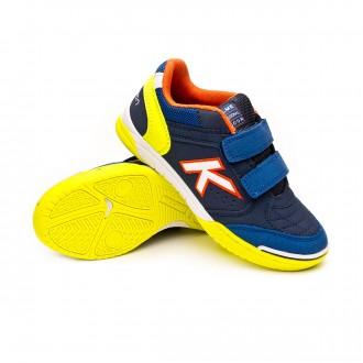 Futsal Boot  Kelme Kids Precision Velcro  Navy blue-Lime