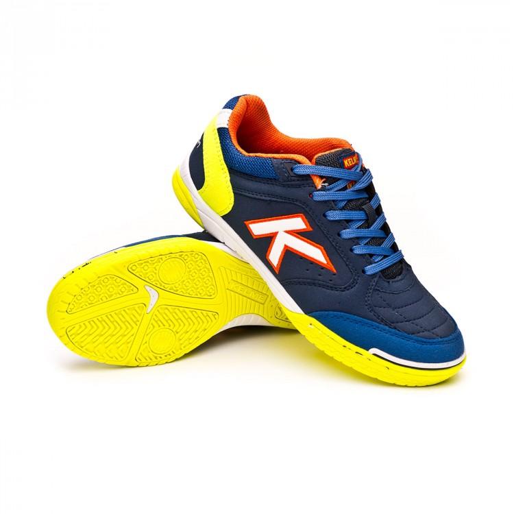 30f9e497ca1 Futsal Boot Kelme Kids Precision Navy blue-Lime - Football store ...