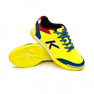 Futsal Boot  Kelme Kids Precision  Lime-Blue