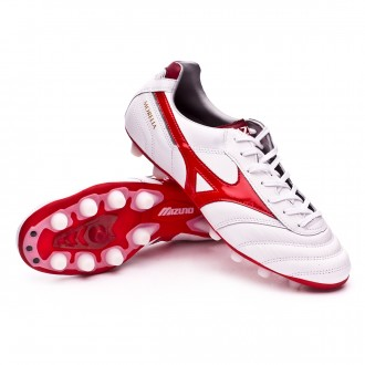 Chuteira  Mizuno Morelia II MD White-Red