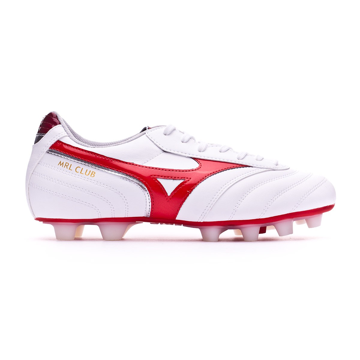 4454cac5a Scarpe Mizuno Morelia Club MD White-High risk red - Negozio di calcio  Fútbol Emotion