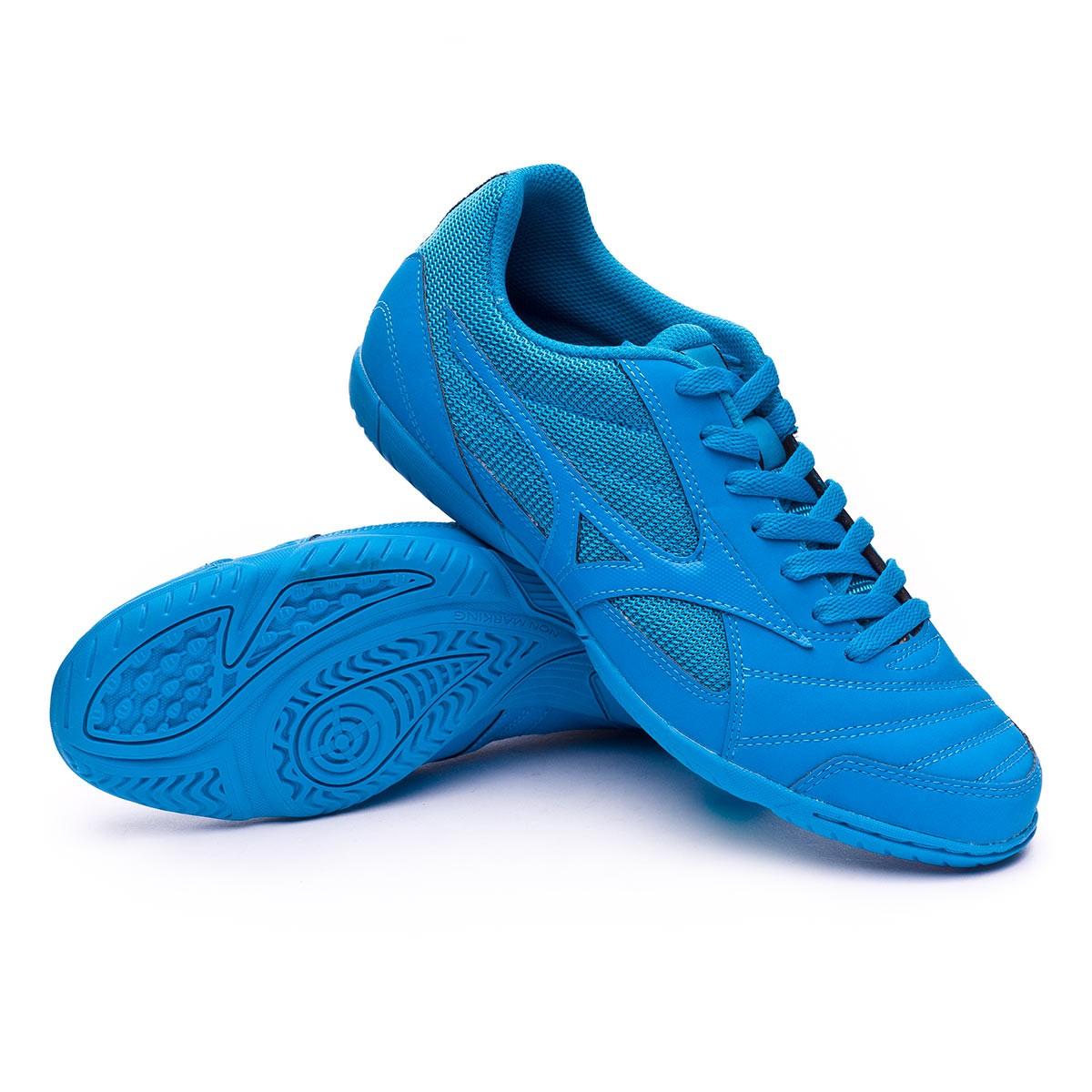 0b5a9b8578cc Futsal Boot Mizuno Sala Club 2 IN Blue jewel-Black - Football store Fútbol  Emotion