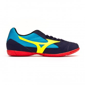 Scarpe Mizuno Sala Club 2 IN Evening blue-Safety yellow-Hawaiian ocean