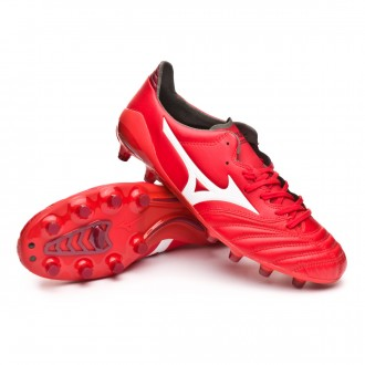 Boot  Mizuno Morelia NEO II MD High risk red-White