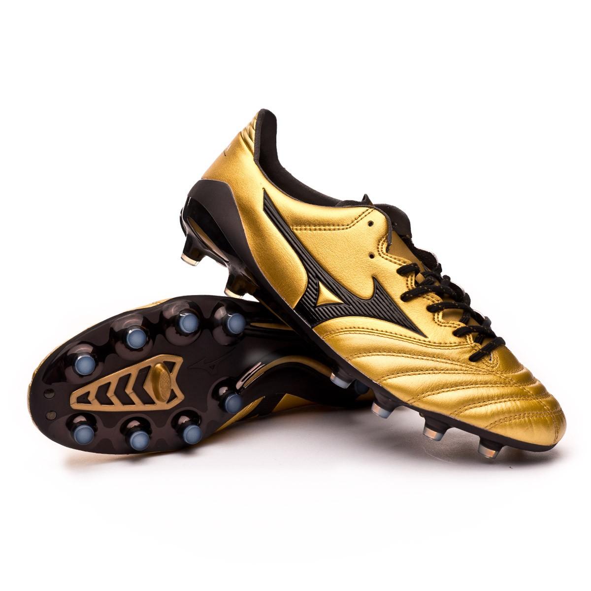 9cb80accd18ab Football Boots Mizuno Morelia NEO II MD Gold-Black - Tienda de ...