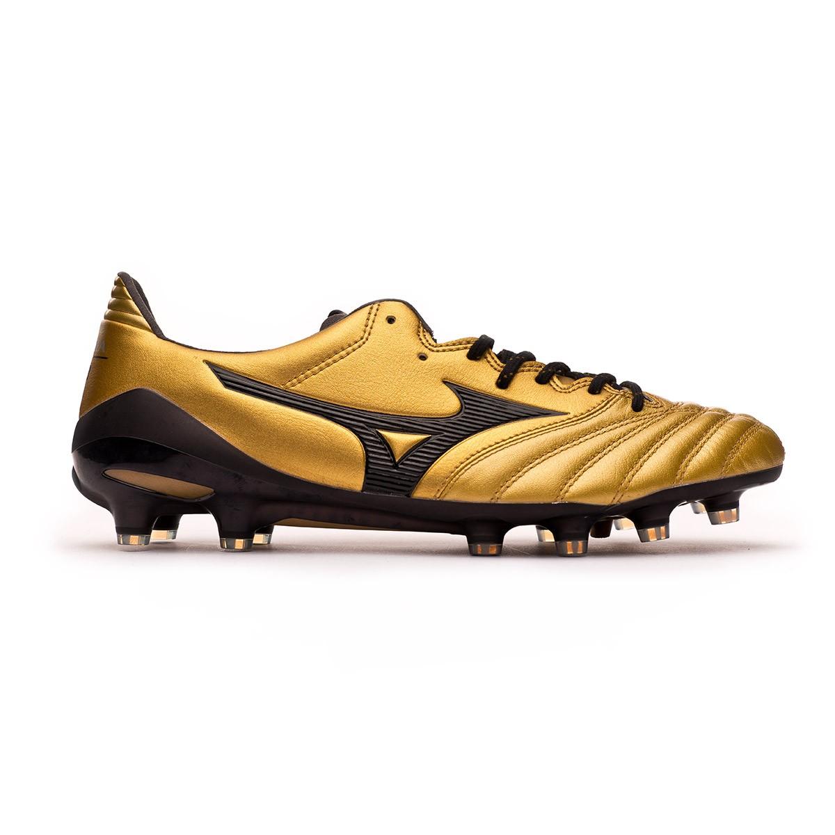 890fba3e6 Football Boots Mizuno Morelia NEO II MD Gold-Black - Football store Fútbol  Emotion