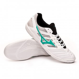 Chaussure de futsal  Mizuno Sala Premium 3 IN White-Billiard-Black
