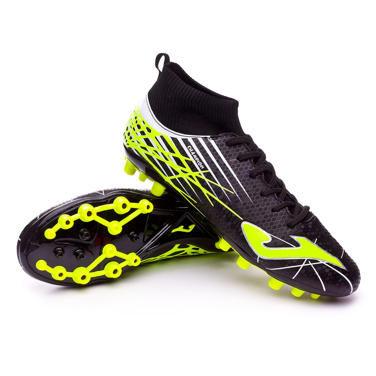 a1fd706469748 Football Boots Joma Champion AG Black-Lime - Football store Fútbol Emotion