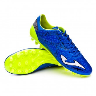 Football Boots  Joma Supercopa AG Blue-Lime