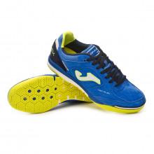 Chaussure de futsal Top Flex Nobuck Blue-Lime