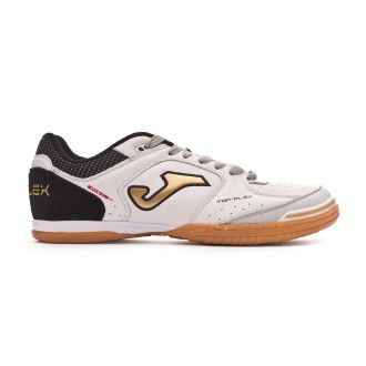 Futsal Boot  Joma Top Flex Exclusiva White-Gold-Black