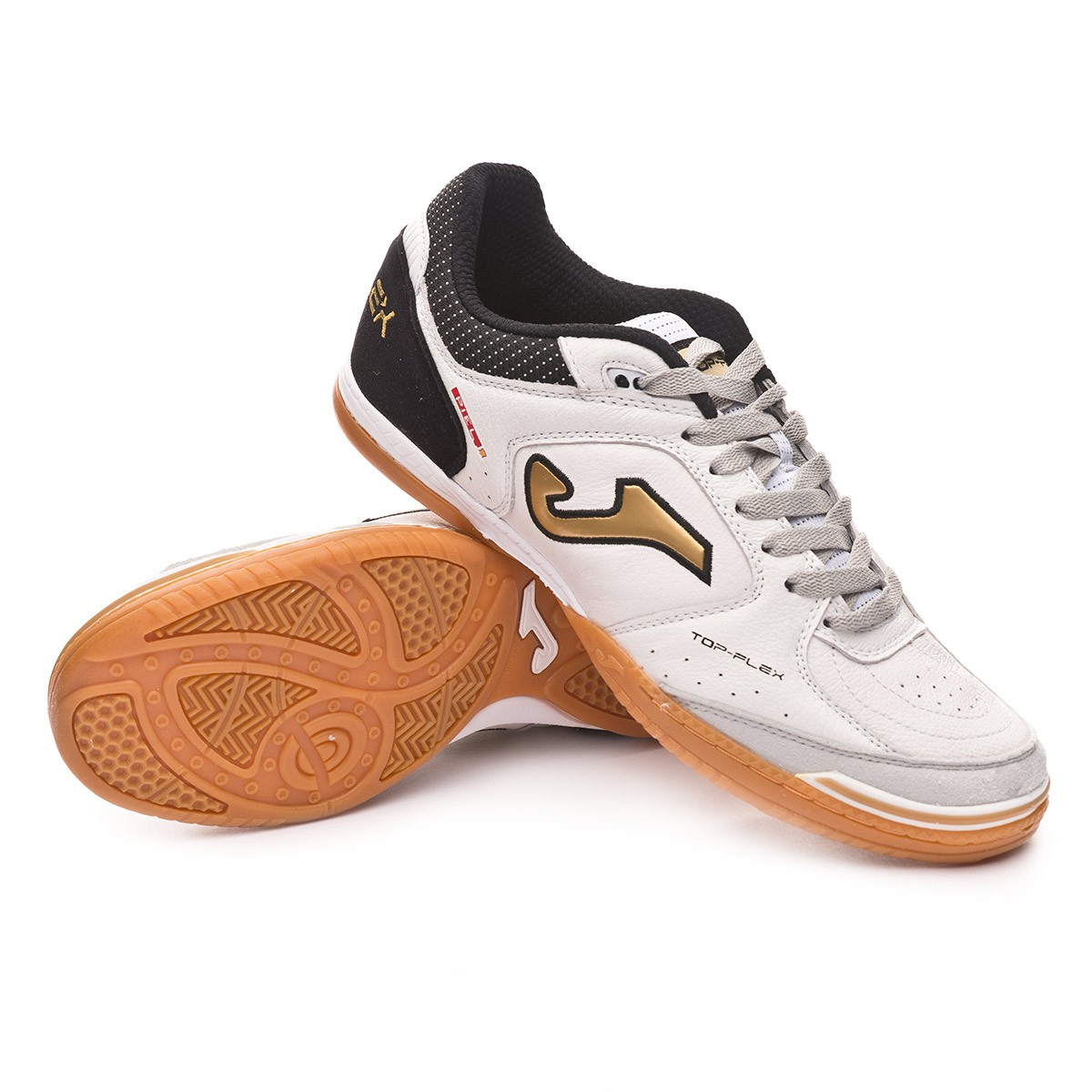 6e3b19f2430e Futsal Boot Joma Top Flex Exclusiva White-Gold-Black - Football store  Fútbol Emotion