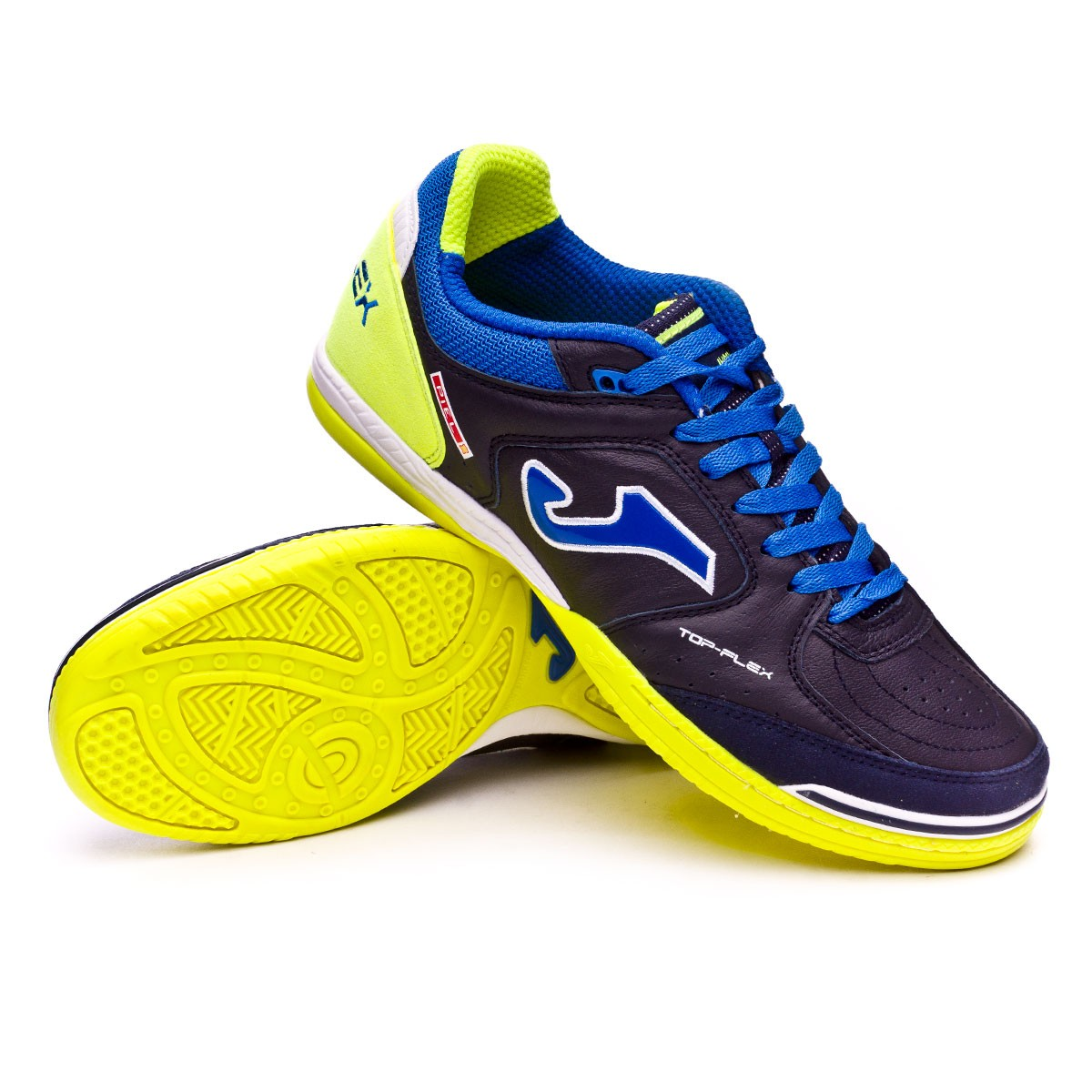 Futsal Boot Joma Top Flex Navy-Lime - Leaked soccer 983d15d3b6691